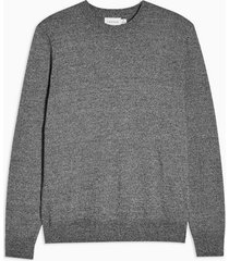 mens grey salt pepper essential sweater
