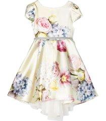 monnalisa flared flowered dress