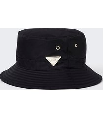 river island womens black nylon ri bucket hat