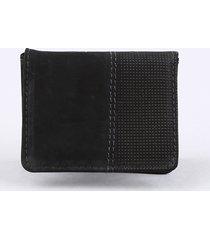 carteira masculina em couro preta