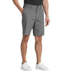 joseph abboud gray plaid modern fit shorts