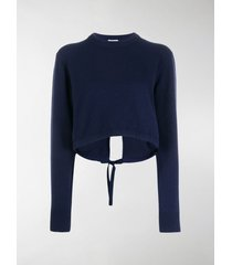 chloé back tie cropped jumper