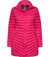 d1. light down coat gevoerde lange jas roze gant