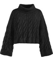 adyson parker women's cropped turtleneck sweater