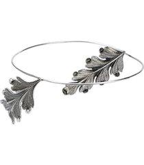 ann demeulemeester winged headband - silver