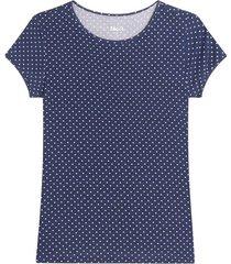camiseta m/c con estampado mini puntos