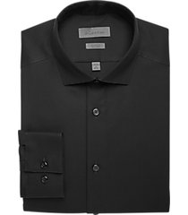 calvin klein black tonal stripe slim fit dress shirt