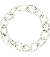 isabel lennse twisted chunky chain bracelet - silver