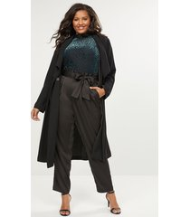 lane bryant women's belted pull-on ankle pant-satin 24 black