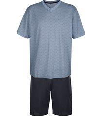pyjamas babista marinblå::ljusblå