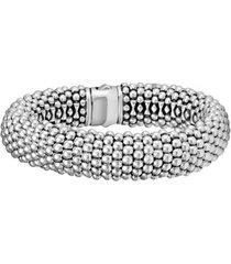 women's lagos signature caviar wide rope bracelet