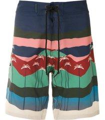 track & field surf ultramax printed swim shorts - multicolour