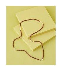 colar de resina - colar kecil cor: marrom - tamanho: único
