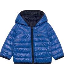 reversible puffer jacket gevoerd jack blauw boss