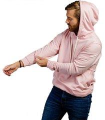 buzo con capota rosado luck & load