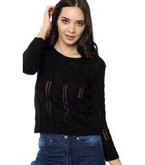sweater negro chelsea market calado