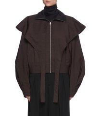 'storm' zip front flap blouse
