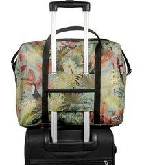 maleta equipaje de mano plegable estampado tropical citybags multicolor