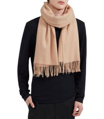 women's mulberry solid wool scarf, size one size - pink