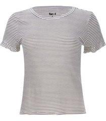 camiseta arandela rayas color blanco, talla 10