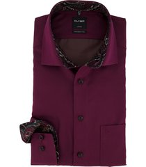 overhemd olymp luxor modern fit bordeaux