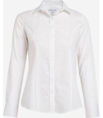 camisa dudalina manga longa tricoline maquinetado feminina (branco, 56)