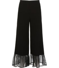 see by chloé ruffled trousers