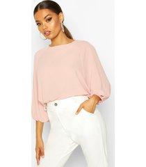 blouse met vleermuismouwen, blush