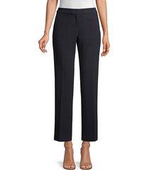 lafayette 148 new york women's manhattan ankle pants - navy - size 2