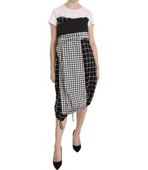 patterned asymmetrische midi jurk