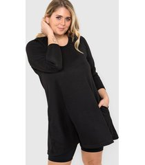 vestido negro minari lanilla