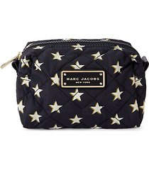 large star-print quilted cosmetic bag