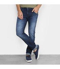 calça jeans skinny zune estonada masculina