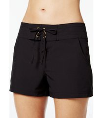 la blanca all aboard drawstring board shorts women's swimsuit