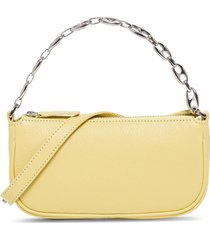by far rachel vanilla grained mini shoulder bag in leather