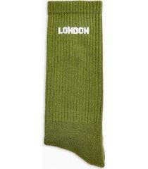 mens green london tube socks