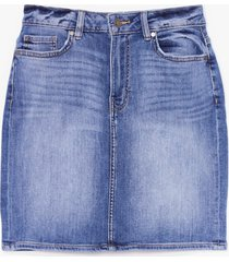womens wear the denim mini skirt - blue