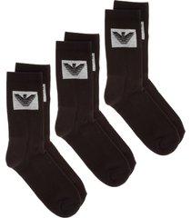 emporio armani eyelike knee high socks