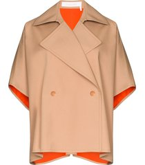 see by chloé cappa bonded cape - neutrals