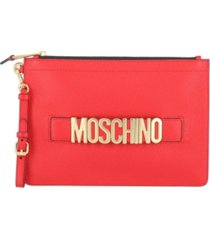 women's leather logo pouch with wristlet (48% off) - comparable value $575