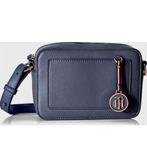 cartera int saffiano charm crossover classic  azul tommy hilfiger