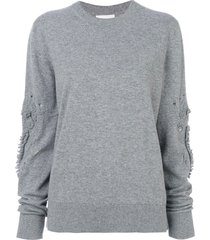 barrie romantic timeless cashmere round neck pullover - grey