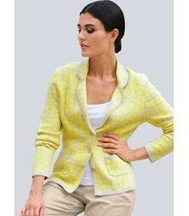 blazer alba moda geel::zand