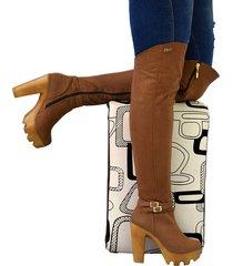 botas en microfibra extralargas 7 y medio para mujer outfit sicilia miel