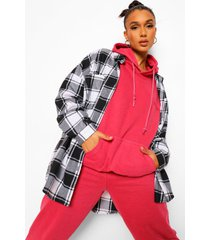 loose overdye ofcl studio hoodie, red