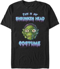 goosebumps classic men's shrunken head halloween costume short sleeve t-shirt