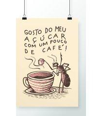 poster açúcar no café