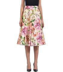 dolce & gabbana floral silk skirt