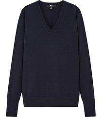 extra fine merino v-neck sweater