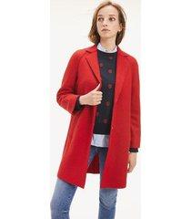 tommy hilfiger women's boiled wool coat haute red - 10